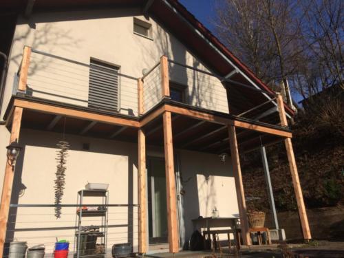 Seil-Geländer Balkon